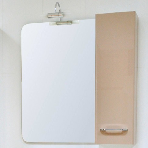 Dulap baie suspendat, 1 usa, cappuccino, dreapta, Arthema Porto 406 - CP2, 80 x 15 x 25 cm