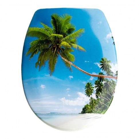Capac WC din duroplast, Tropic Pratiko, cu model, 370 x 440/450 mm