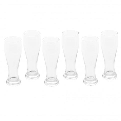 Pahar bere, Weiss, din sticla, 520 ml, set 6 pahare