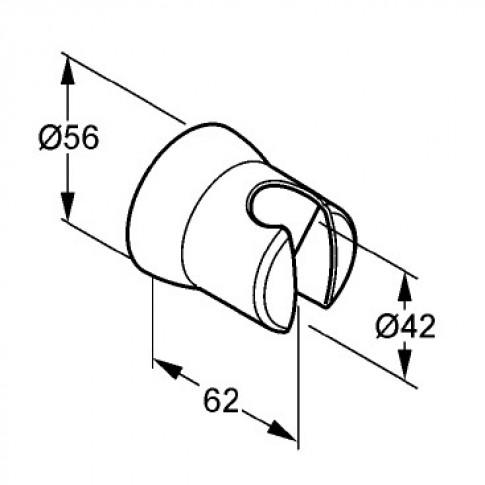 Suport pentru para de dus Kludi Sirena 6305005 - 00, fix, cromat, D 4.2 cm