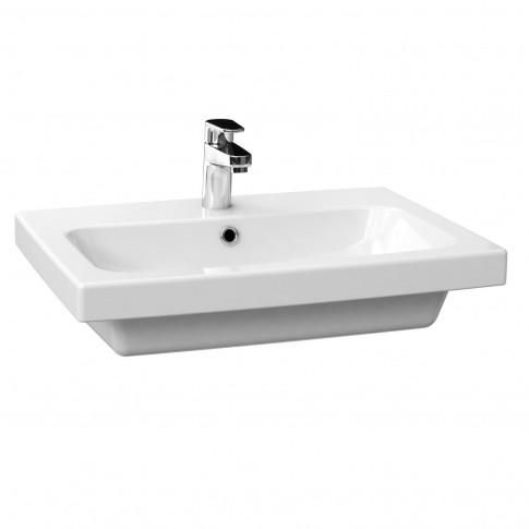 Lavoar Cersanit Colour K103 - 007, alb, dreptunghiular, 60 cm