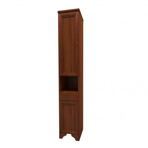 Dulap baie pe sol, 2 usi, cu sertar, Savini Due Cinzia 756S, nuc, deschidere pe stanga, 196 x 33.5 cm