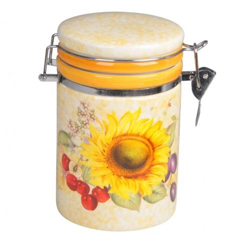 Recipient pentru bucatarie HC8600E-S16, galben, ceramica, 9 x 9 x 15 cm