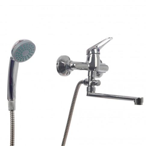 Baterie baie pentru cada / dus, Smart ZS54802B-323 + accesorii, montaj aplicat, monocomanda, finisaj cromat