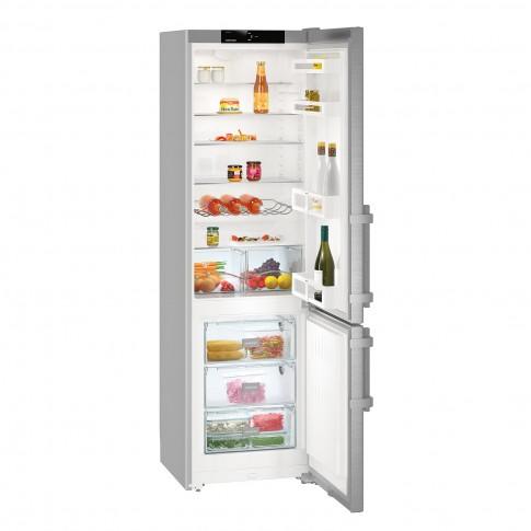 Combina frigorifica Liebherr CUef4015, 358 l, clasa A++, SmartFrost, inaltime 201.1 cm, argintiu