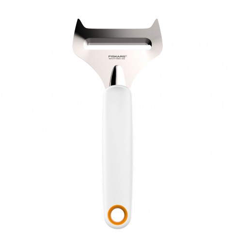Dispozitiv pentru feliat branza, Fiskars, inox, alb, 25.5 x 8 cm