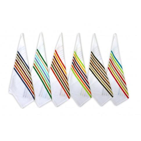 Prosop bucatarie N-8148, set 6 bucati, model dungi, bumbac, multicolor, 60 x 40 cm