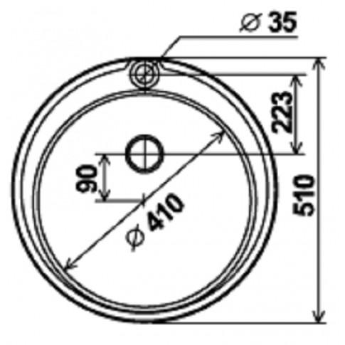 Chiuveta bucatarie inox dekor Franke PML 610 rotunda diametru de 51 cm