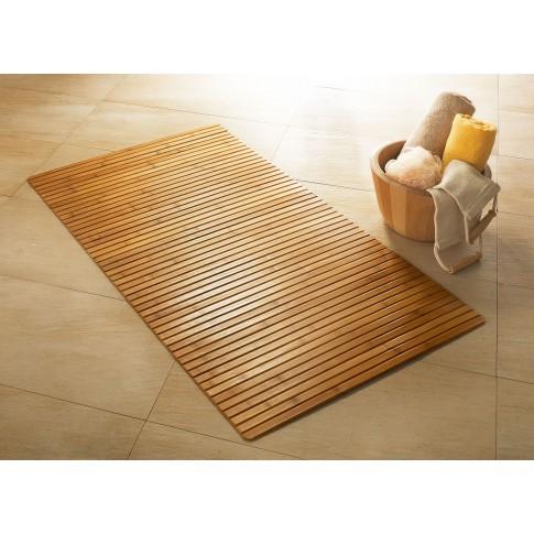 Covoras baie din bambus, 50 x 80 cm