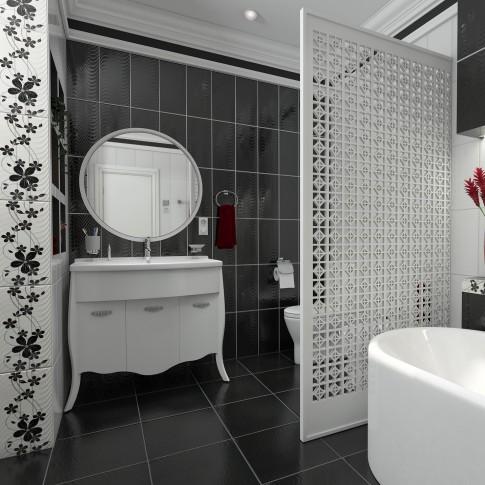 Oglinda baie, Martplast Breeze, cu rama, alb, 80 x 80 cm