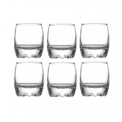 Pahar lichior, Silvana, din sticla, 80 ml, set 6 pahare