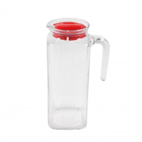 Carafa 80050 cu capac, sticla, 1 litru