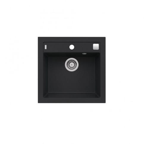 Chiuveta bucatarie compozit granit Alveus Formic 20 91 neagra patrata 52 x 51 cm
