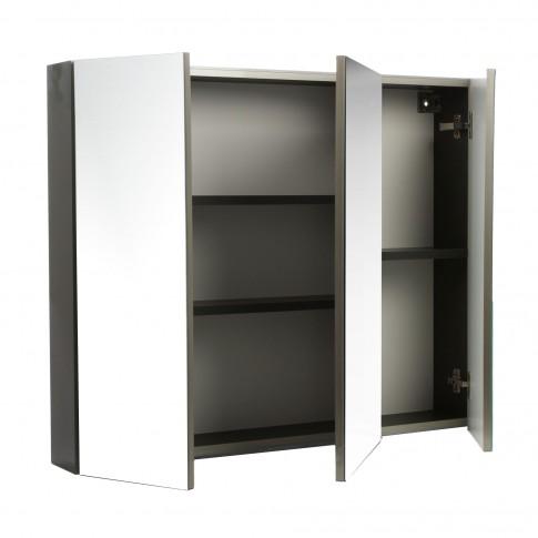 Dulap baie cu oglinda, Martplast Star 900, 3 usi, alb, 90 x 15 x 75 cm