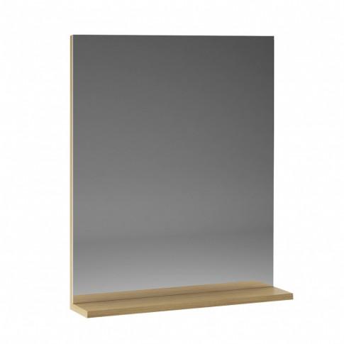 Oglinda baie cu polita, Martplast Star 600, stejar, 60 x 14 x 72 cm