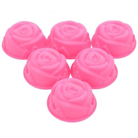 Forme briosa, trandafir, MYS 200, roz, 8 x 3 cm, 6 buc