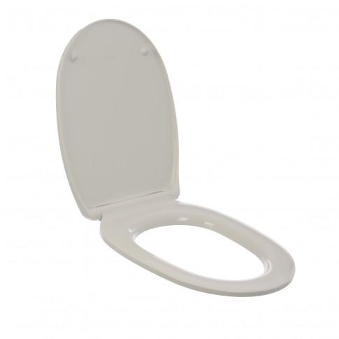 Capac WC din duroplast, MKW Studio Slim S765V010, alb, inchidere lenta, 360 x 405/454 mm