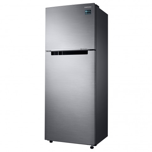 Frigider Samsung RT32K5030S9/EO, cu 2 usi si 3 rafturi, 321 l, clasa A+, argintiu, inaltime 171.5 cm, Twin Cooling Plus, Smart Conversion