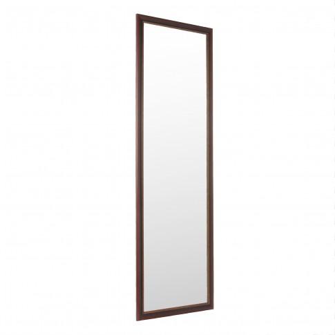 Oglinda decorativa Class Mirrors, cu rama wenge, 140.6 x 40.6 cm