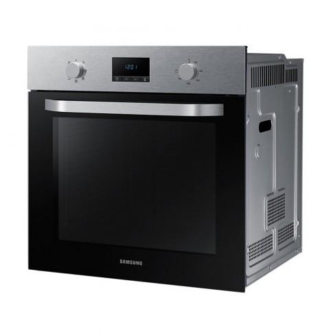 Cuptor electric incorporabil Samsung NV70K1340BS, clasa A, 70 litri, 7 functii, grill, timer, ventilator, curatare catalitica, argintiu