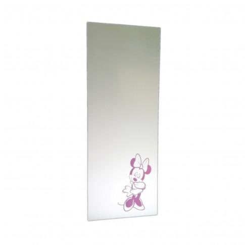 Oglinda baie, cu print Minnie Mouse, 40 x 100 cm