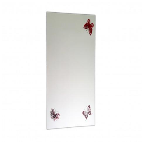 Oglinda baie, cu print fluturi, 50 x 80 cm