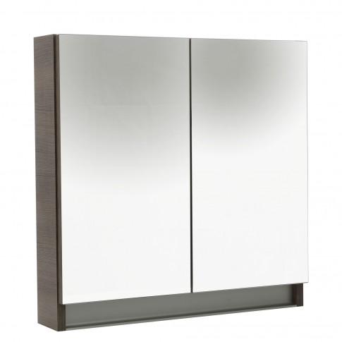 Dulap baie cu oglinda, 2 usi, Arthema Frame, rigoletto argintiu, 60 x 13 x 60 cm