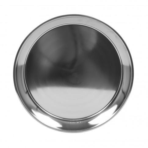 Tava rotunda pentru servire, din inox, 40 x 5.6 cm