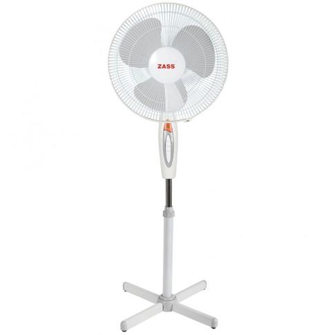 Ventilator cu picior Zass ZF 1605, 45 W, 3 viteze, diametru 40.6 cm, alb