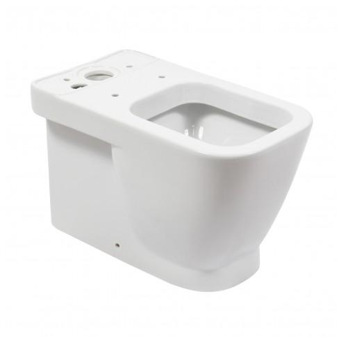 Vas WC Sanindusa Look 134022004, alb, cu evacuare orizontala