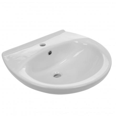 Lavoar Sanindusa Aveiro 103310004, alb, rotunjit, 59.5 cm