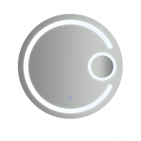 Oglinda baie cu iluminare LED, tip lupa, rotunda, H191, 70 x 70 cm
