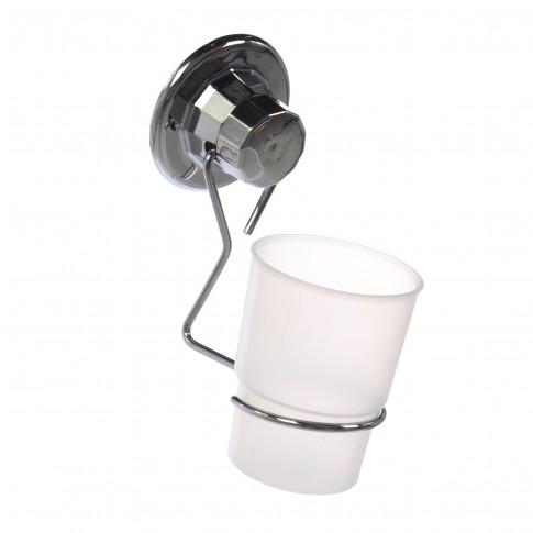 Pahar baie pentru igiena personala, DM274, sticla, prindere pe perete, 8 x 11 x 17 cm
