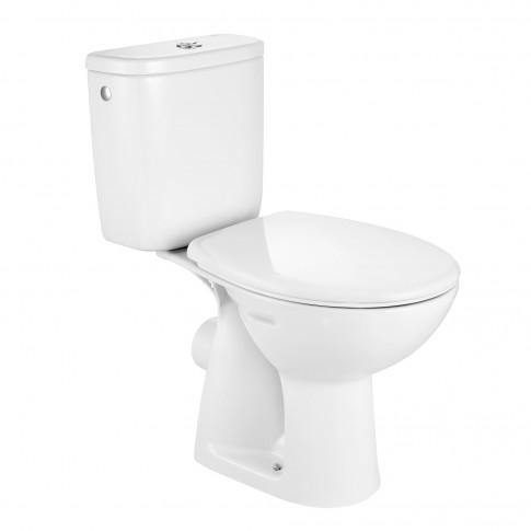 Set vas WC + rezervor + mecanism + capac Roca Adele A34P195000, din portelan, 35.5 x 75.5 x 64.5