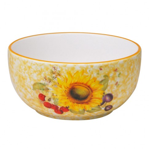Bol pentru servirea mesei HC141R-S16, ceramica, galben, 14 x 7 cm