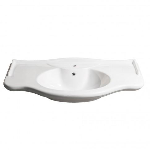 Lavoar Savini Due Daiana M907080, ceramica, alb, 114 cm