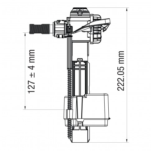 "Robinet flotor universal, LIV FM 747, 3/8"""