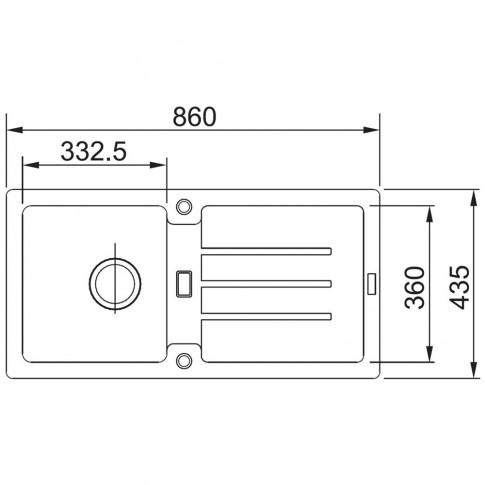 Chiuveta bucatarie compozit fragranite Franke Strata 614-86 avena bej cuva stanga / dreapta 86 x 43.5 cm