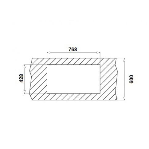 Chiuveta bucatarie inox leinen Pyramis Inset aspect 1B 1D cuva pe dreapta 79 x 45 cm