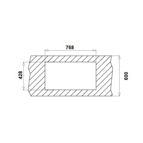 Chiuveta bucatarie inox leinen Pyramis Inset aspect 1B 1D cuva pe stanga 79 x 45 cm