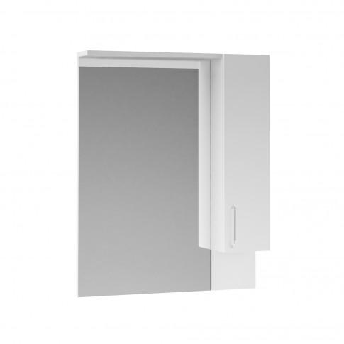 Dulap baie cu oglinda, 1 usa, Martplast Star 750, alb, 75 x 15 x 102 cm