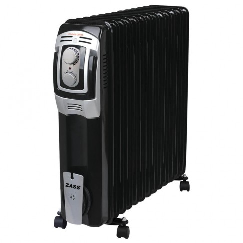 Radiator electric Zass ZR 13 BE, 3 trepte, 3000 W, 630 x 300 x 700 mm, 13 elementi, termostat reglabil