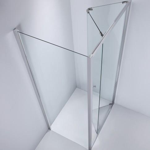 Perete fix pentru cabina dus, sticla, West SP100WST04, 100 x 190 cm