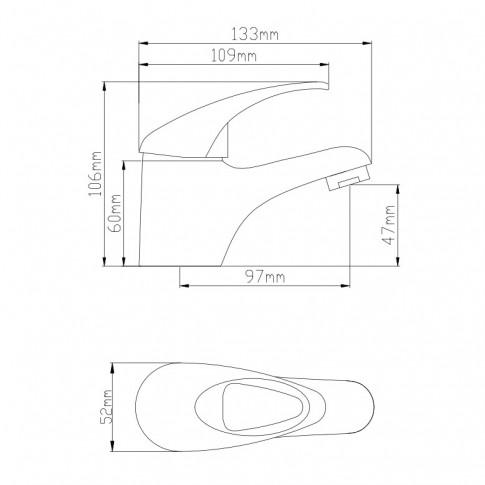 Baterie baie pentru lavoar, Frame ZS53403, montaj stativ, monocomanda, finisaj cromat