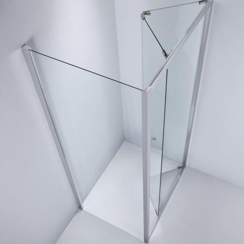 Perete fix pentru cabina dus, sticla, West SP80WST04, 80 x 190 cm