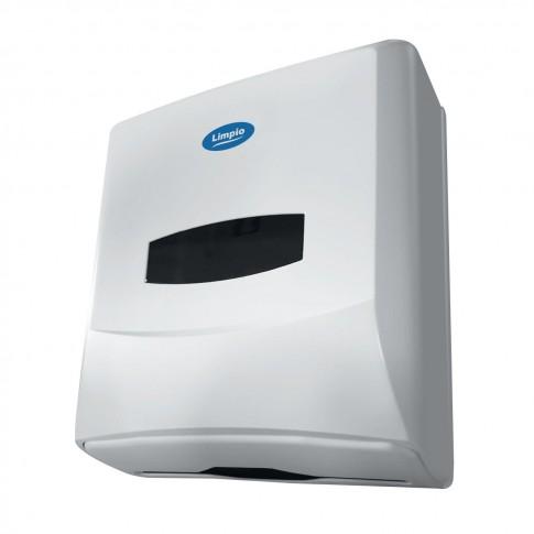 Dispenser prosoape hartie Z Limpio DP 1100ZW2, plastic ABS, alb lucios, 30 x 25 x 13 cm