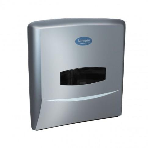 Dispenser prosoape hartie Z Limpio DP 1200ZS2, plastic ABS, argintiu lucios, 30 x 25 x 13 cm