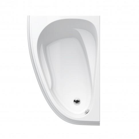 Cada baie asimetrica, pe colt, varianta montaj stanga, Cersanit Joanna New S301-167, 150 x 95 cm