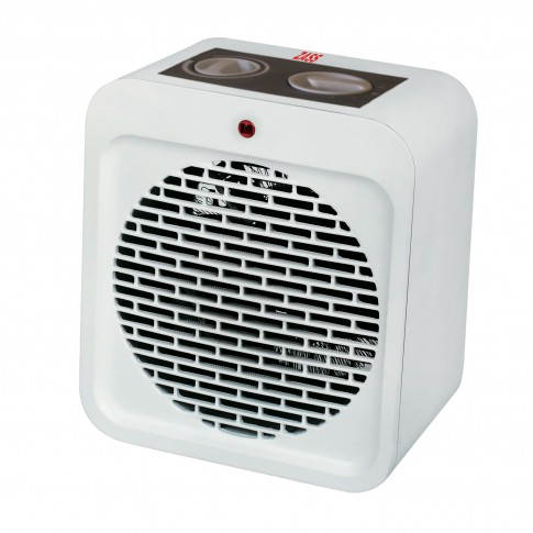 Aeroterma electrica Zass ZFH 04, 2 trepte, 2 kW, 280 x 210 x 140 mm, termostat reglabil, functie ventilatie