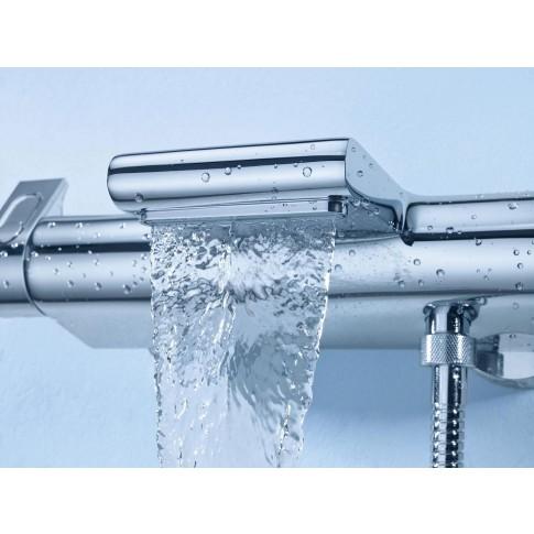 Baterie baie pentru cada / dus, Grohe Grohterm 2000 34464001, montaj aplicat, dubla comanda, finisaj cromat